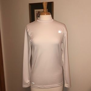 Star Work out long sleeve Medium white shirt